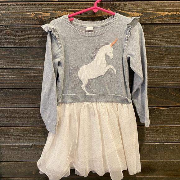 Gap Girl Unicorn Flutter Sleeve Thule Dress 5T